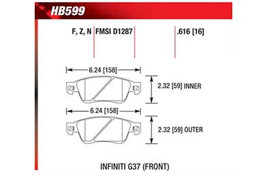 hawk brake pads diagrams HB599
