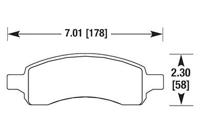 hawk brake pads diagrams HB617