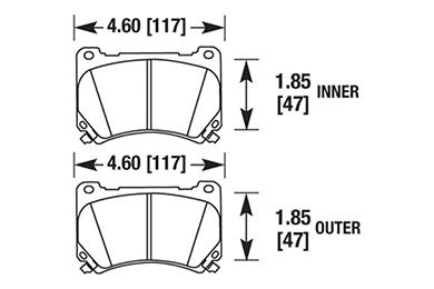 hawk brake pads diagrams HB636