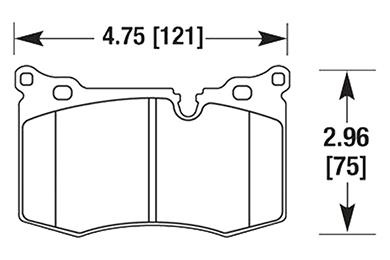hawk brake pads diagrams HB640