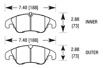 hawk brake pads diagrams HB641
