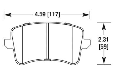 hawk brake pads diagrams HB642