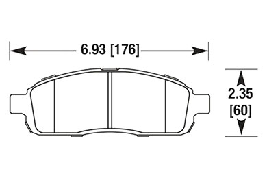 hawk brake pads diagrams HB644