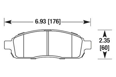 hawk brake pads diagrams HB644