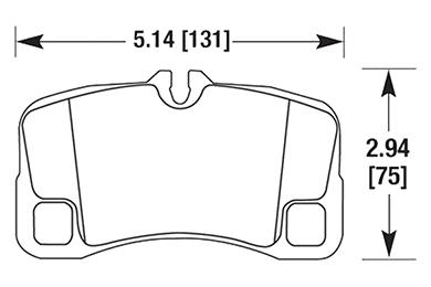 hawk brake pads diagrams HB651