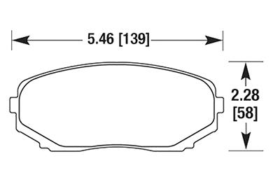 hawk brake pads diagrams HB656