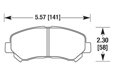 hawk brake pads diagrams HB660