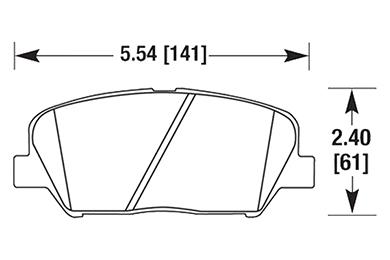 hawk brake pads diagrams HB661