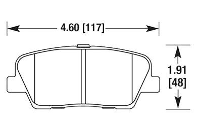 hawk brake pads diagrams HB662