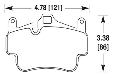 hawk brake pads diagrams HB664