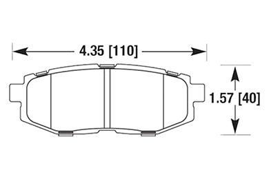 hawk brake pads diagrams HB671