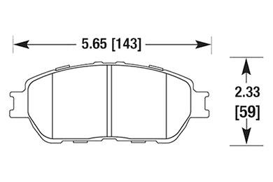 hawk brake pads diagrams HB677