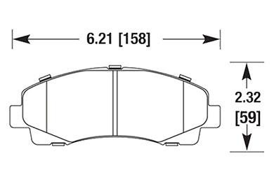 hawk brake pads diagrams HB678