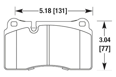 hawk brake pads diagrams HB683