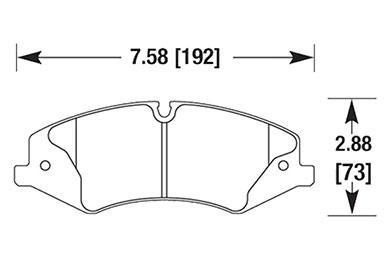 hawk brake pads diagrams HB684
