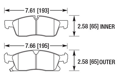 hawk brake pads diagrams HB701