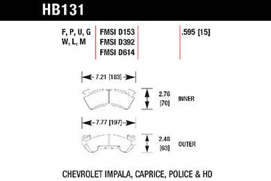 hawk brake pads tech spec diagram HB131