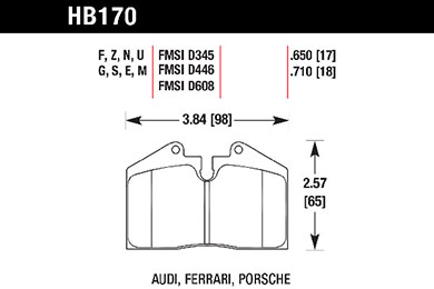 hawk brake pads tech spec diagram HB170