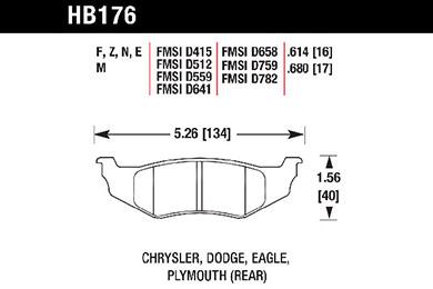 hawk brake pads tech spec diagram HB176