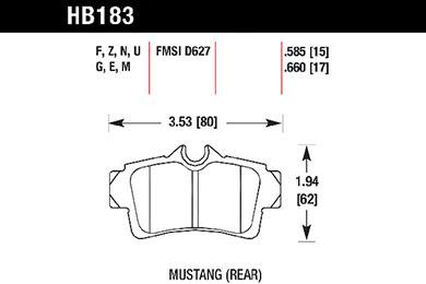 hawk brake pads tech spec diagram HB183