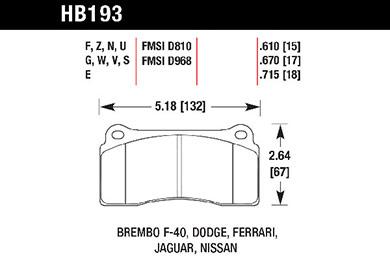 hawk brake pads tech spec diagram HB193