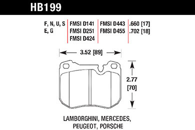 hawk brake pads tech spec diagram HB199
