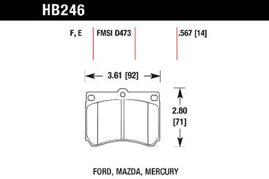 hawk brake pads tech spec diagram HB246