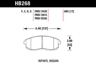 hawk brake pads tech spec diagram HB268