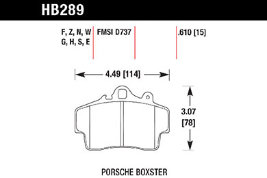 hawk brake pads tech spec diagram HB289