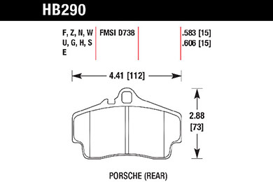 hawk brake pads tech spec diagram HB290
