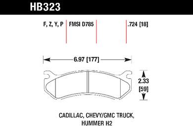hawk brake pads tech spec diagram HB323
