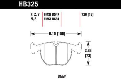 hawk brake pads tech spec diagram HB325