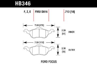 hawk brake pads tech spec diagram HB346