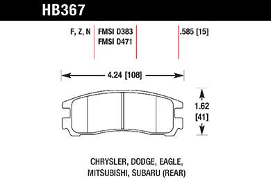 hawk brake pads tech spec diagram HB367