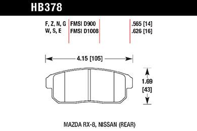 hawk brake pads tech spec diagram HB378