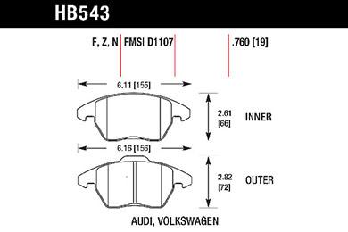 hawk brake pads tech spec diagram HB543