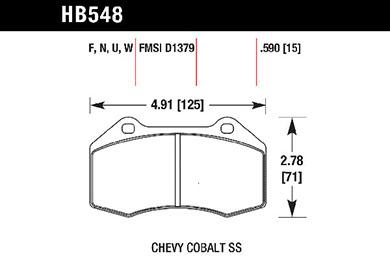 hawk brake pads tech spec diagram HB548