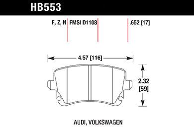 hawk brake pads tech spec diagram HB553