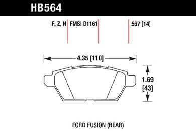 hawk brake pads tech spec diagram HB564