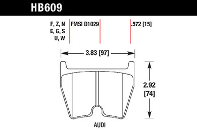 hawk brake pads tech spec diagram HB609