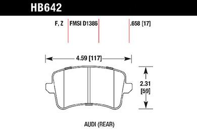 hawk brake pads tech spec diagram HB642