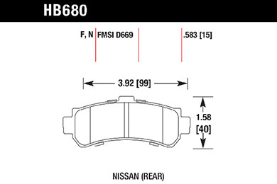 hawk brake pads tech spec diagram HB680