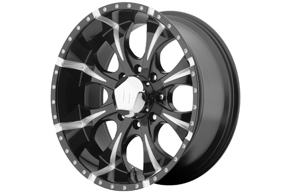 helo he791 maxx wheels gloss black with ball milled finish eight spoke sample