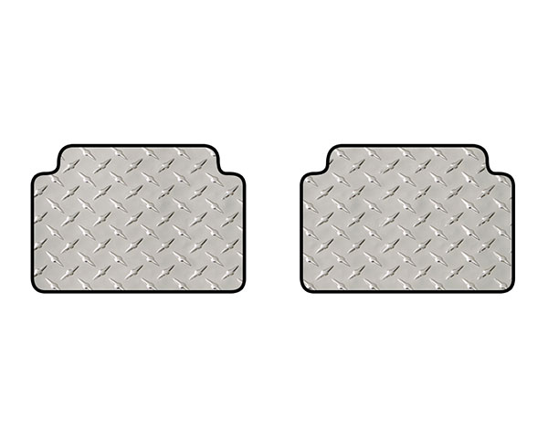 intro-tech diamond plate mat 2pc 2nd row