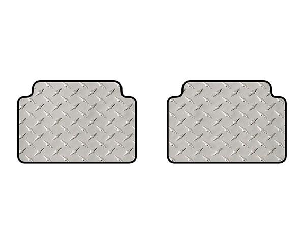 intro-tech diamond plate mat 2pc 3rd row