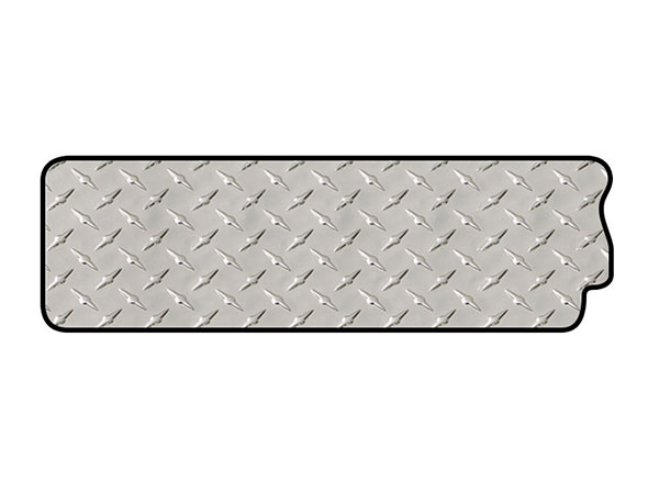 intro-tech diamond plate mat right rail mat