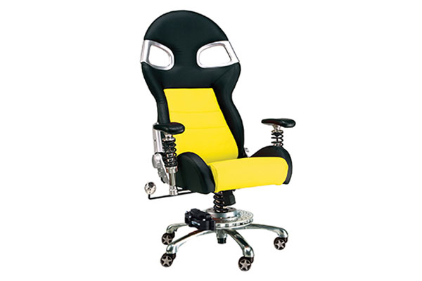 Image of Intro-Tech Automotive PitStop XLE Office Chair FO8000Y Formula One Series Chair