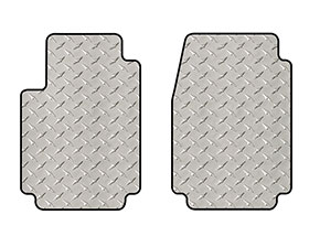 intro-tech diamond plate mat 2pc front