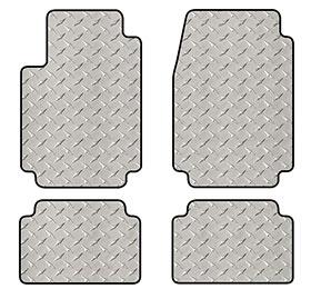 intro-tech diamond plate mat 2pc front 2pc second