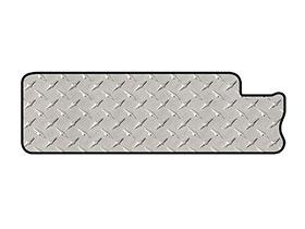 intro-tech diamond plate mat left rail mat